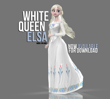 [MMD] White Queen Elsa - AVAILABLE by wintrydrop