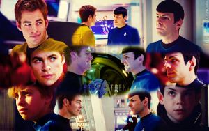 Spirk Wallpaper by PuppetMistress666