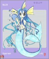 PKMN 134-vaporeon by SailorChii