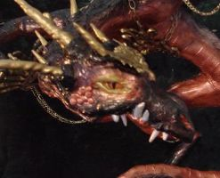 Samhain Dragon- Closeup by LabyrinthCreations