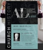 Church History Seminar Flyer and Poster Template by Godserv
