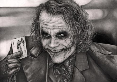 'The Joker' Graphite drawing by Pen-Tacular-Artist