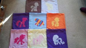 My Little Pony Pillows by Evilwarlordgu