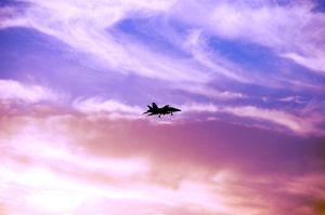 FA18 Hornet in the sunset by ShannonCPhotography
