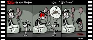 Skitzo The Bear Comic Strip- Balloon by Comickpro