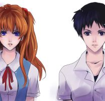 EVA characters 02 - Evangelion by Sobachan