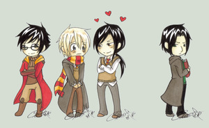 :HP:Potter:Lupin:Black:Snape: by KaiSuki