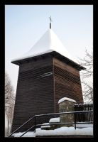 Frozen Bell's Tower in Czchow - Poland by skarzynscy