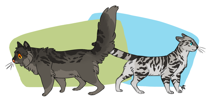 Graystripe and Silverstream by Susiron