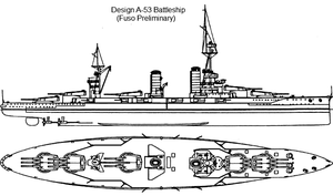 Battleship Design A-53 by Tzoli