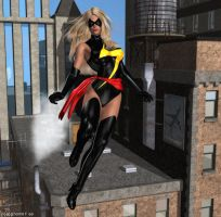 Ms Marvel on Patrol by Poserhobbit