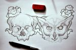 my wrist tattoos. [: by limeflavored