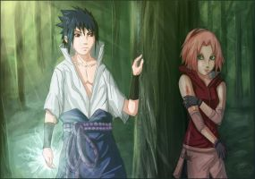 SasuSaku - Hide and seek by panthara