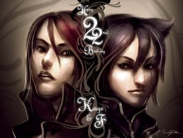 22nd Kage and Fi by minties