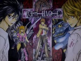 Drawing Deathnote by thewalkingpencil