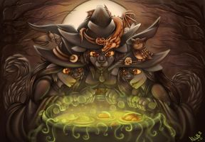 Double double toil and trouble by Troglit