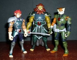 Thundercats - Lion-O, Claudus and Tygra by CyberDrone
