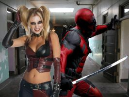 DEADPOOL AND HARLEY LIVE ACTION (for HappySniper) by Darth-Slayer