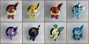 Eeveelution Pop-Out Buttons by LeiliaClay