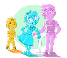 mystery skulls kids! 112314 by VinDeamer