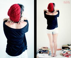 Girl with Red Beret_II by cande-knd