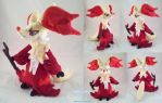 Delphox Plushie by dolphinwing