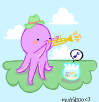 Musical Octopus. by Mushiboo