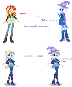 Sunset Shimmer and Trixie Lulamoon Fusion by MidnightDaydreamStar