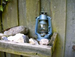 Blue Oil Lamp by Fea-Fanuilos-Stock