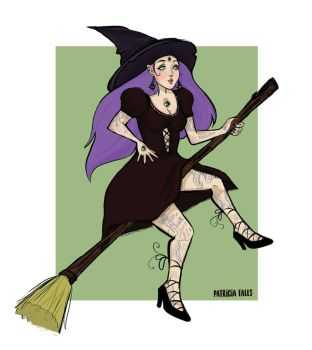 The Looking Witch  by patriciafalls
