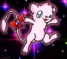Art Trade Mew with AbyssinChaos by MVFox