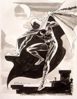 Moon Knight Sketch by BillReinhold