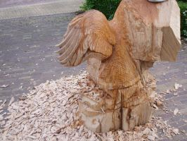 eagle in progress1 by woodcarve