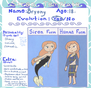Bryony - Siren Template by ToonMidna1