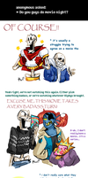 Undertale ask blog: movie night by bPAVLICA