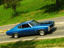 blue 1971 chevy chevelle by AmericanMuscle