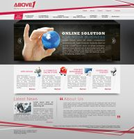 Above1 Homepage Mockup by murdoc192000