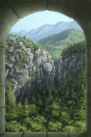 Neuschwanstein Alpen View by Serio555