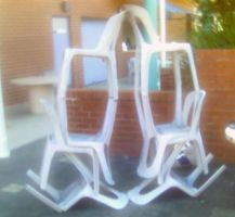 Newtons Third Law Chairs by Thrakks