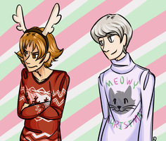 Two Festive Sweaters by Amelior8