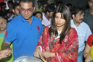 Priyanka Chopra at Durga Puja1 by 24xentertainment