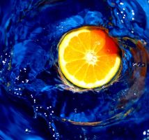 Orange in water 5 by Angelic-Painter