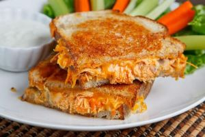 Buffalo Chicken Grilled Cheese Sandwich by GraceDover19