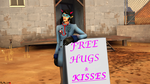 Free HUGS and KISSES by Petra-K-Z