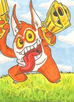 Trigger Happy sketchcard by PlummyPress