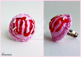 Strawberry Icecream Scoop Ring by Rhiannon-San