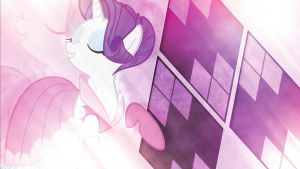 Wallpaper ~ Rarity by Makkah-Chan