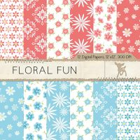 Floral Fun Digital Paper by MyDearMemories