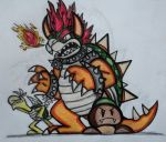 I draw Bowser by Huntertallonian