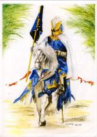 Blue Knight by arthelius